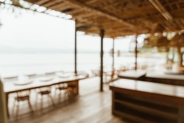 Abstracte wazig koffieshop Premium Foto