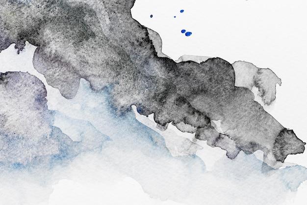 Abstracte zwarte aquarel kopie ruimte patroon achtergrond Gratis Foto