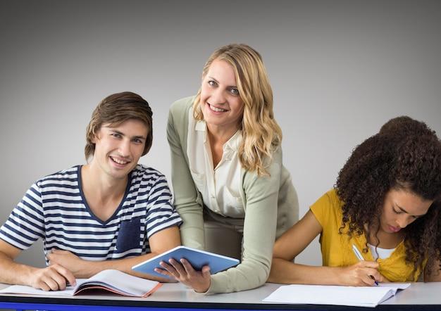Academische kennis stepping schoolkleur Gratis Foto