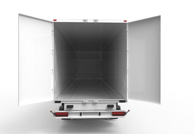 Achter vrachtwagen Premium Foto