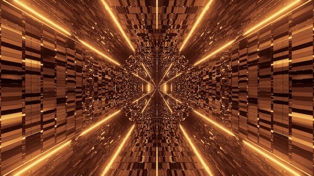 Achtergrond met abstracte gele lichteffecten Gratis Foto