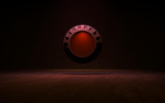 Achtergrond met verlichtingsringen 3d-rendering Premium Foto