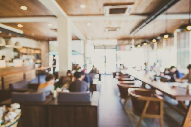 Achtergrond onscherp restaurant winkelinterieur Gratis Foto
