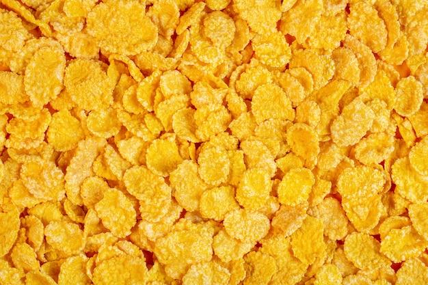 Achtergrond van cornflakes bovenaanzicht Gratis Foto
