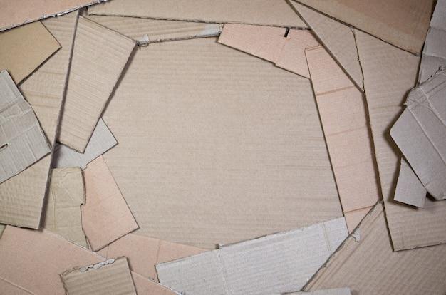 Achtergrond van document texturen opgestapeld klaar te recycleren. Premium Foto