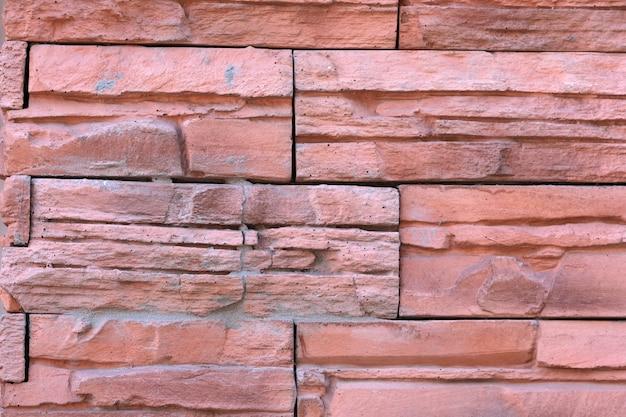 Achtergrond van een bakstenen muur Premium Foto