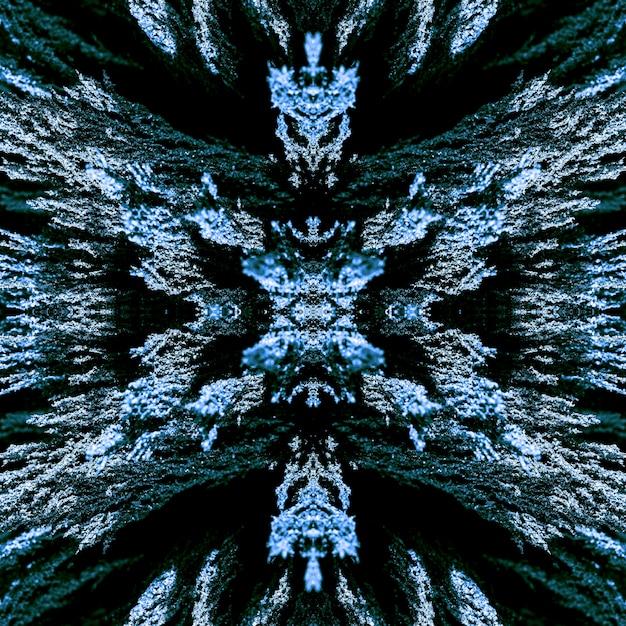 Achtergrond van het naadloze caleidoscoop magnetische metaalscheren Gratis Foto