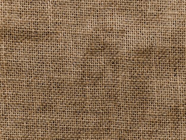 Achtergrond van jute materiële textuur Gratis Foto