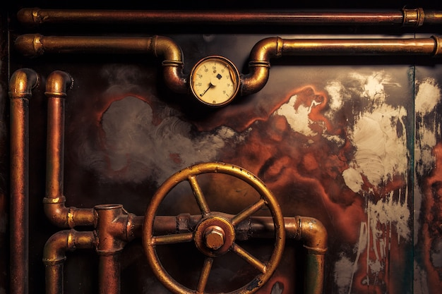 Achtergrond vintage steampunk Premium Foto