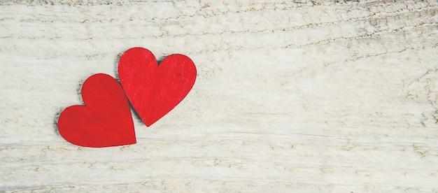 Achtergrondliefde en romantisch. selectieve aandacht. minnaar Premium Foto
