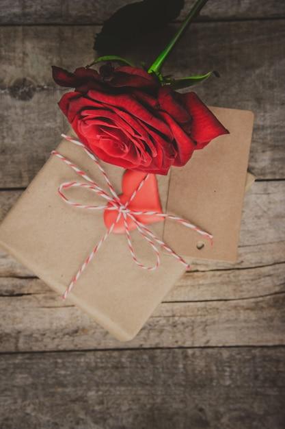 Achtergrondliefde en romantisch Premium Foto