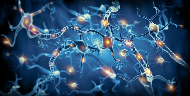 Actieve zenuwcellen Premium Foto