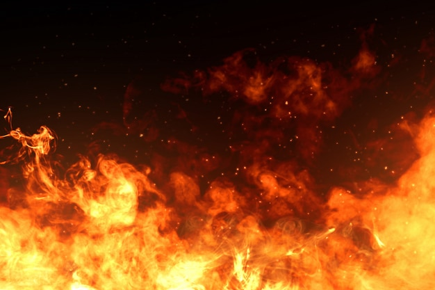 Afbeeldingen van vuurvlammen Premium Foto