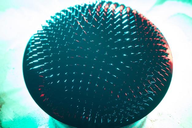 Afgeronde vorm van ferromagnetisch metaal Gratis Foto