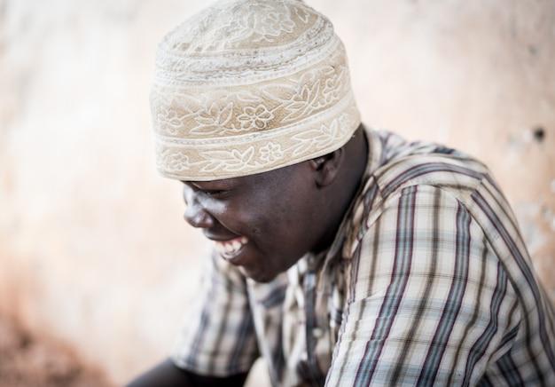 Afrikaanse tiener portret Premium Foto