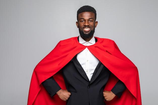 Afrikaanse zakenman superman Premium Foto