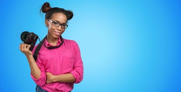 Afro-amerikaanse fotograaf Premium Foto