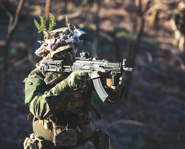 Airsoft militair spel Premium Foto