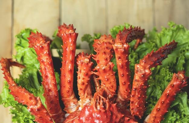 Alaskan king crab cooked Premium Foto