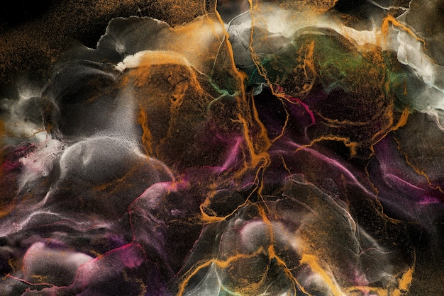 Alcohol inkt abstracte achtergrond Premium Foto