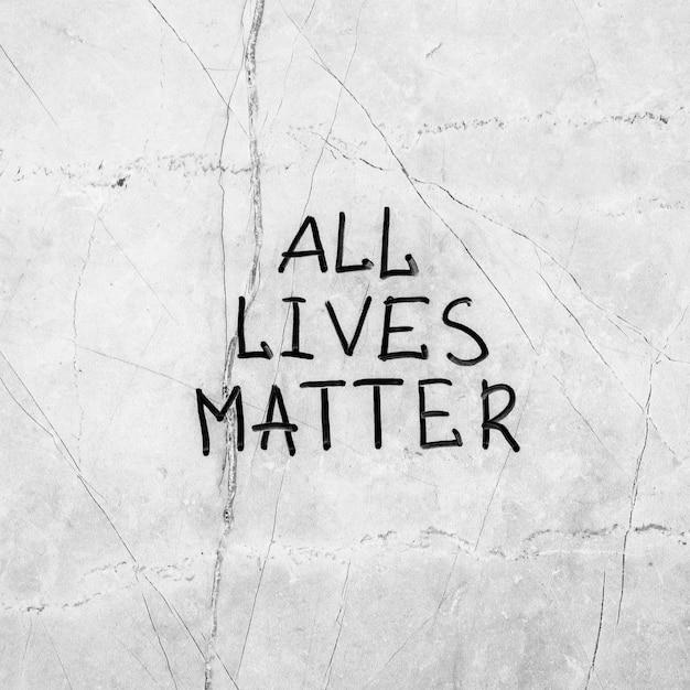 Alle levens zijn belangrijk op het cementoppervlak Gratis Foto