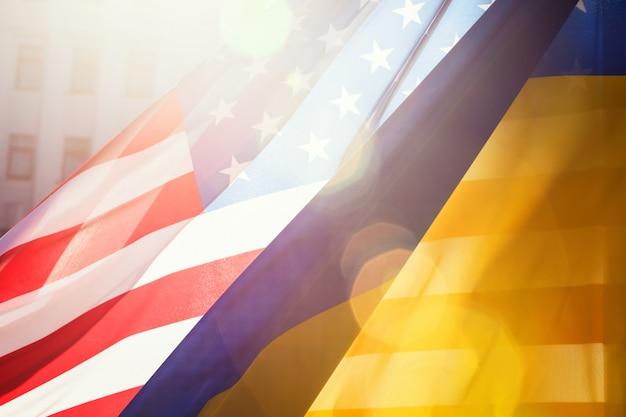 Alliantie tussen oekraïne en de vs. Premium Foto