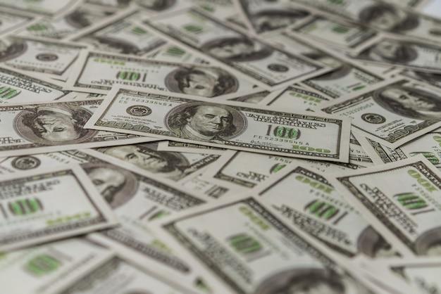 Amerikaans honderd dollar papieren bankbiljet. Premium Foto