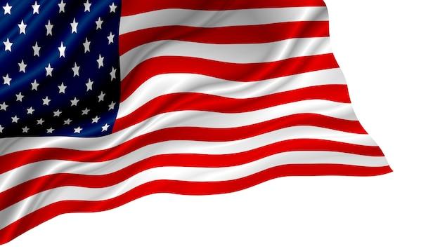 Amerikaanse of amerikaanse vlag geïsoleerd Premium Foto
