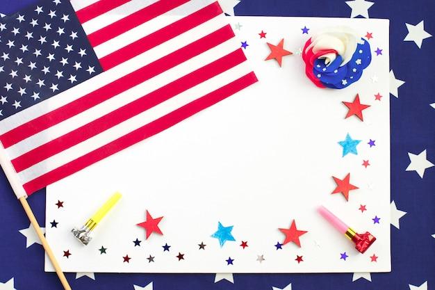 Amerikaanse onafhankelijkheidsdag, kaart Premium Foto