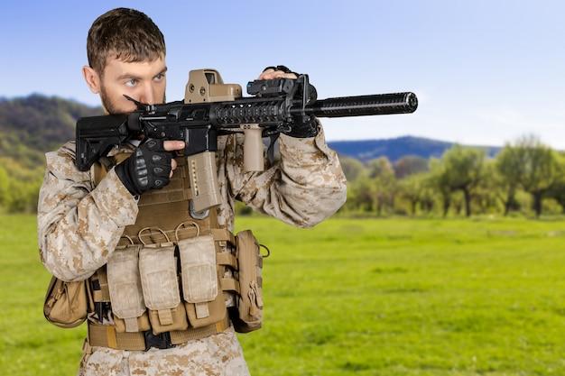 Amerikaanse soldaat Premium Foto