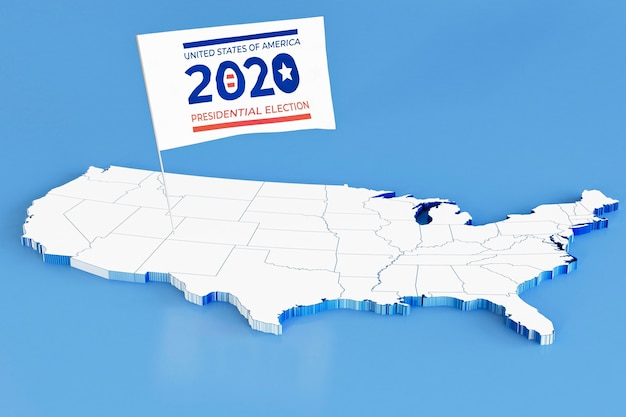 Amerikaanse verkiezingen stemmen concept met vlag Gratis Foto