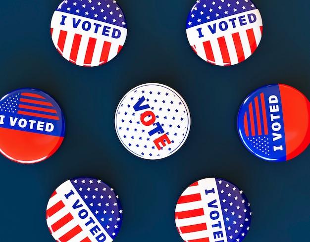 Amerikaanse verkiezingen stemmen concept met vlag Premium Foto