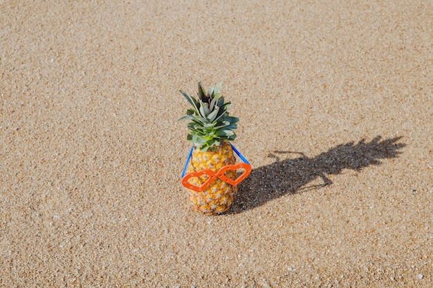 Ananas in zonnebril Gratis Foto