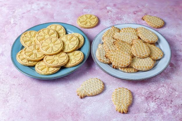 Ananasvormige heerlijke koekjes. Gratis Foto