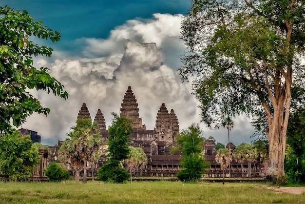 Angkor wat historische tempel in siem reap, cambodja Gratis Foto