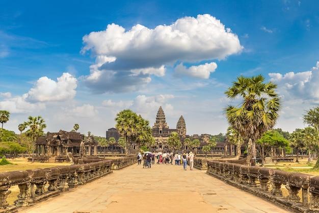 Angkor wat tempel in siem reap, cambodja Premium Foto