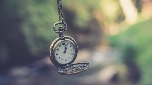 Antiek horloge ketting Premium Foto