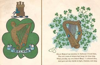 Antieke ierland harp postkaart Gratis Foto