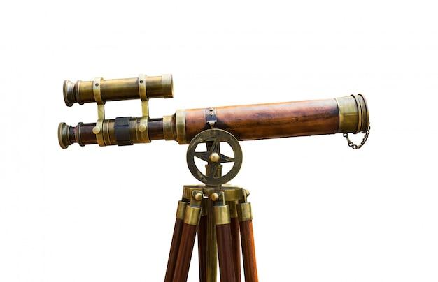 Antieke koperen telescoop Premium Foto