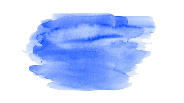 Aquarel abstracte penseel streken achtergrond Gratis Foto