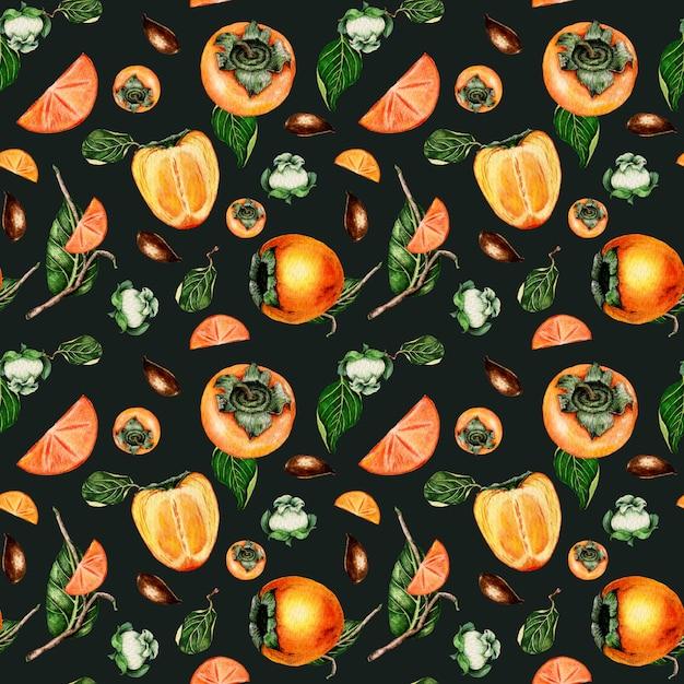 Aquarel kaki naadloze patroon Premium Foto