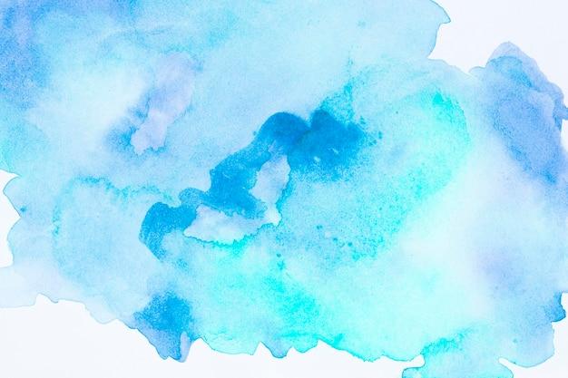 Aquarel kunst hand verf blauwe achtergrond Gratis Foto