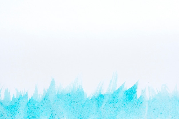 Aquarel kunst hand verf witte en blauwe achtergrond Gratis Foto