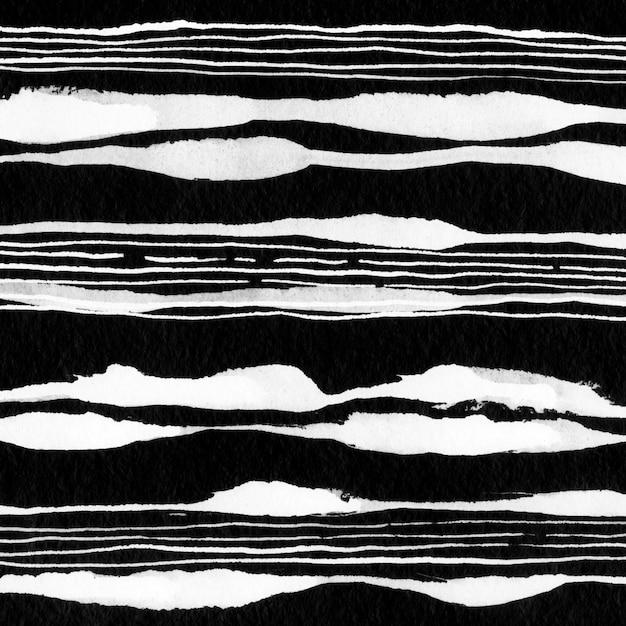 Aquarel lijn abstracte bergen. vloeibare minimalistische inkt zwart. Premium Foto