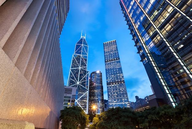 Architectuur in hong kong Premium Foto
