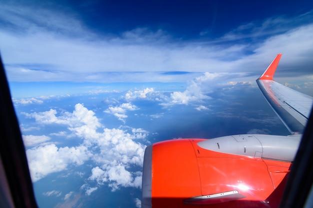 Arial mening van interne cabine van vliegtuig. Premium Foto