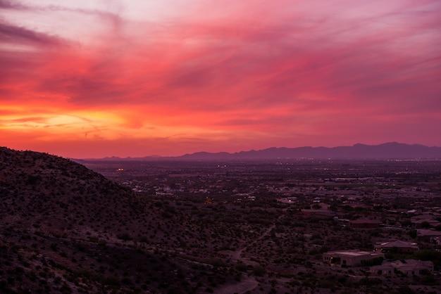 Arizona sunset scenery Gratis Foto