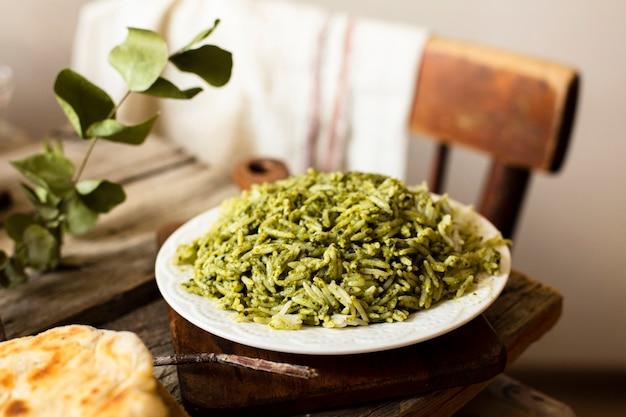 Aromatische aziatische schotel met rijst Gratis Foto