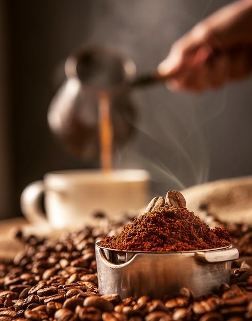 Aromatische ochtendkoffie Premium Foto