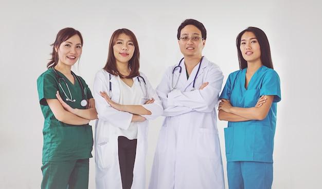 Arts en verpleegkundige professionele reputatie Premium Foto